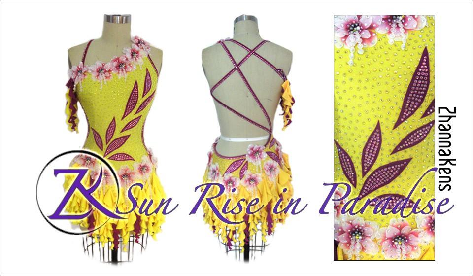 Zhannakens Sun rise in paradise dress