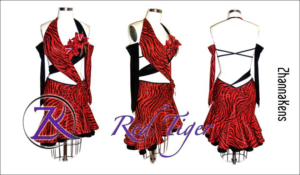 Zhannakens Red tiger dress