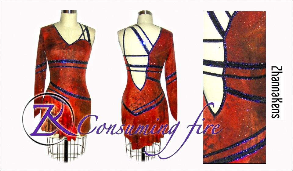 Zhannakens Consuming fire dress