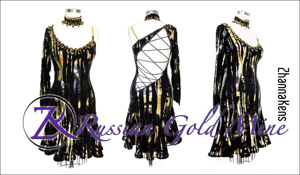 Zhannakens russian gold mine dress