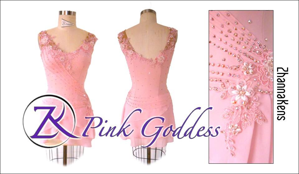 Zhannakens Pink goddess dress